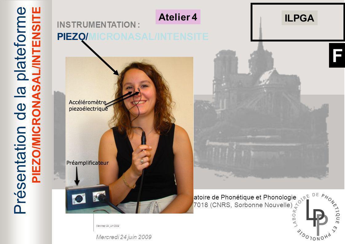 F Présentation de la plateforme PIEZO/MICRONASAL/INTENSITE Atelier 4