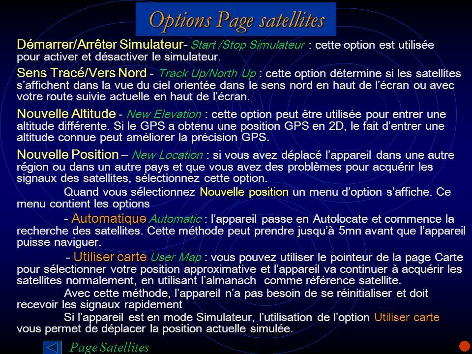 Options Page satellites