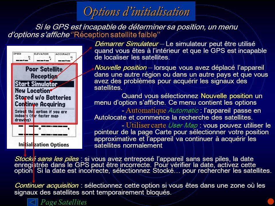 Options d'initialisation