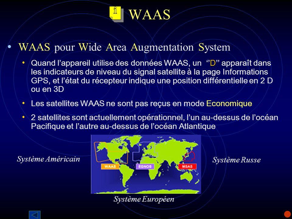 WAAS WAAS pour Wide Area Augmentation System