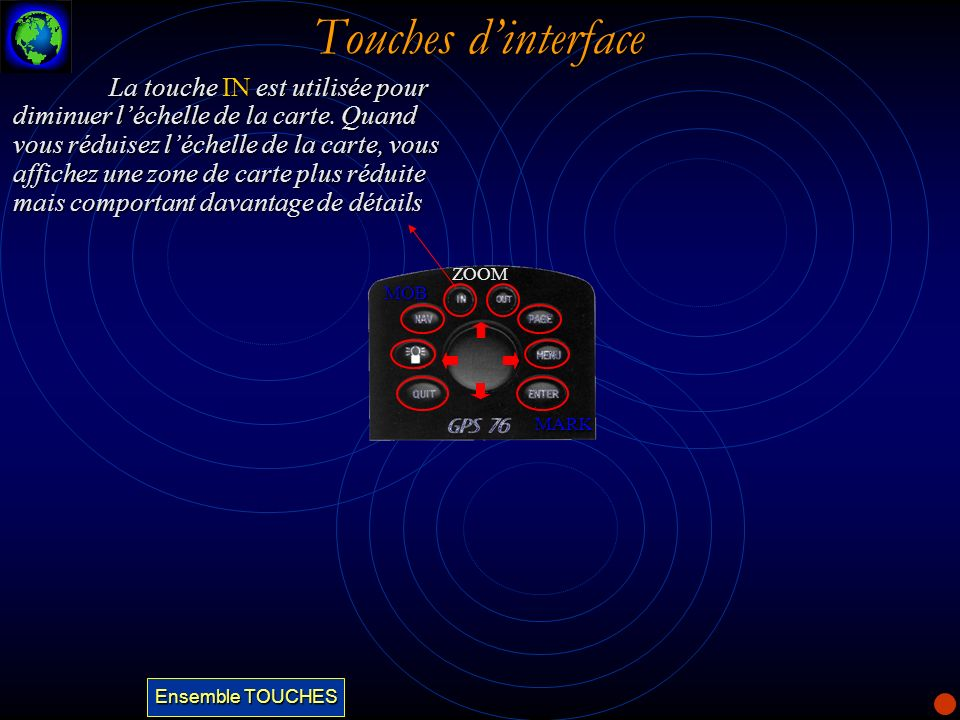 Touches d'interface