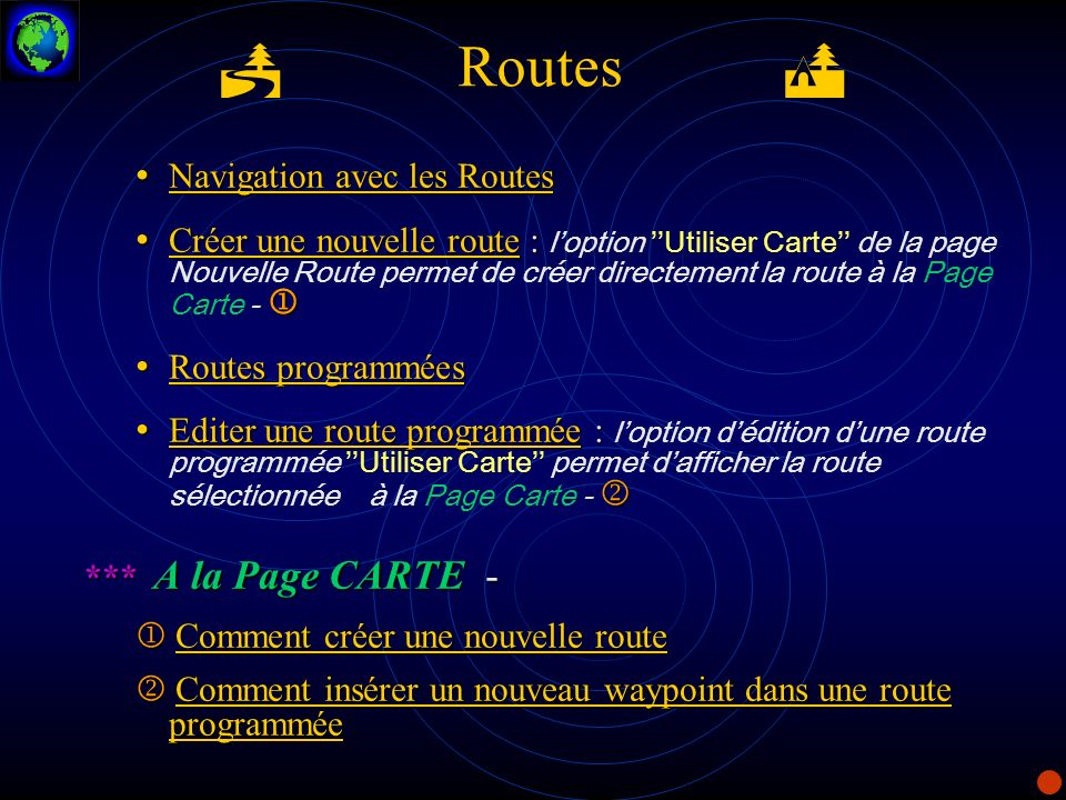 P Routes Q Navigation avec les Routes