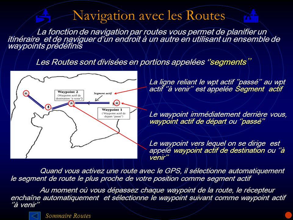 P Navigation avec les Routes Q