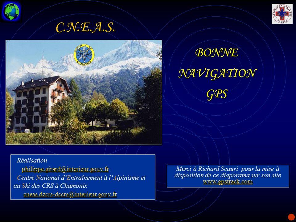C.N.E.A.S. BONNE NAVIGATION GPS Réalisation
