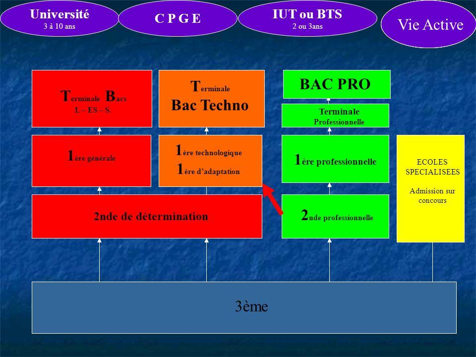 2nde Professionnelle pour C.A.P. ou B.E.P.