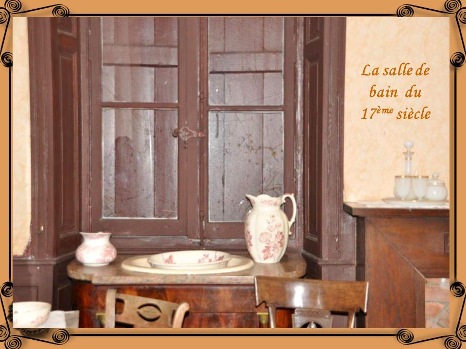 La salle de bain du 17ème siècle