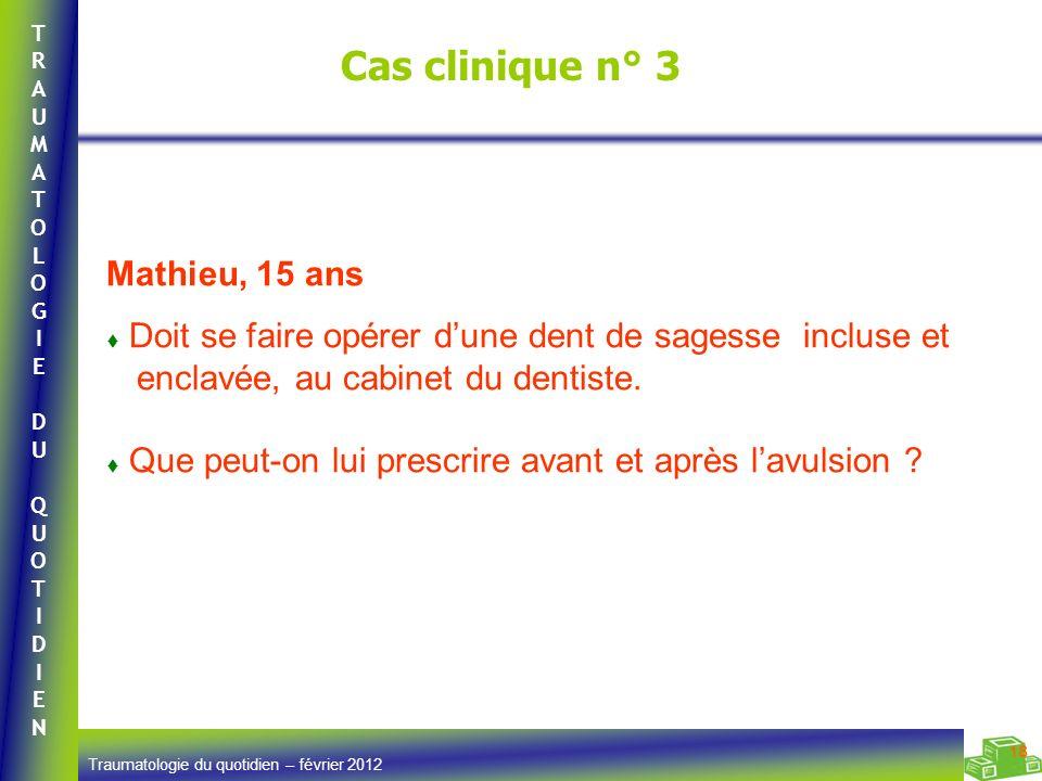 Cas clinique n° 3 Mathieu, 15 ans