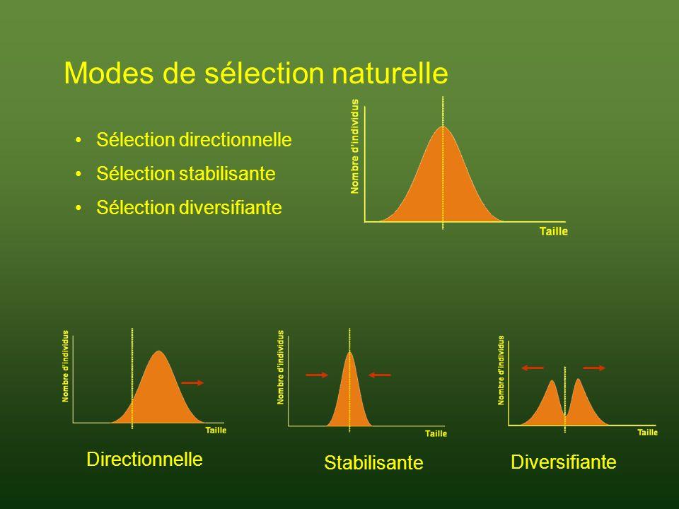 Modes de sélection naturelle
