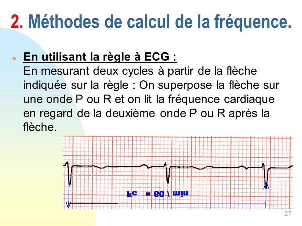 2. Méthodes de calcul de la fréquence.