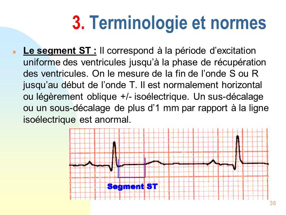 3. Terminologie et normes