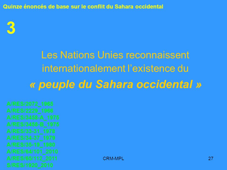 « peuple du Sahara occidental »