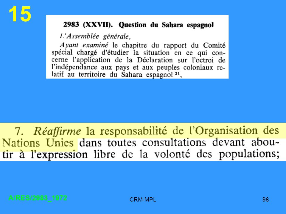 15 A/RES/2983_1972 CRM-MPL