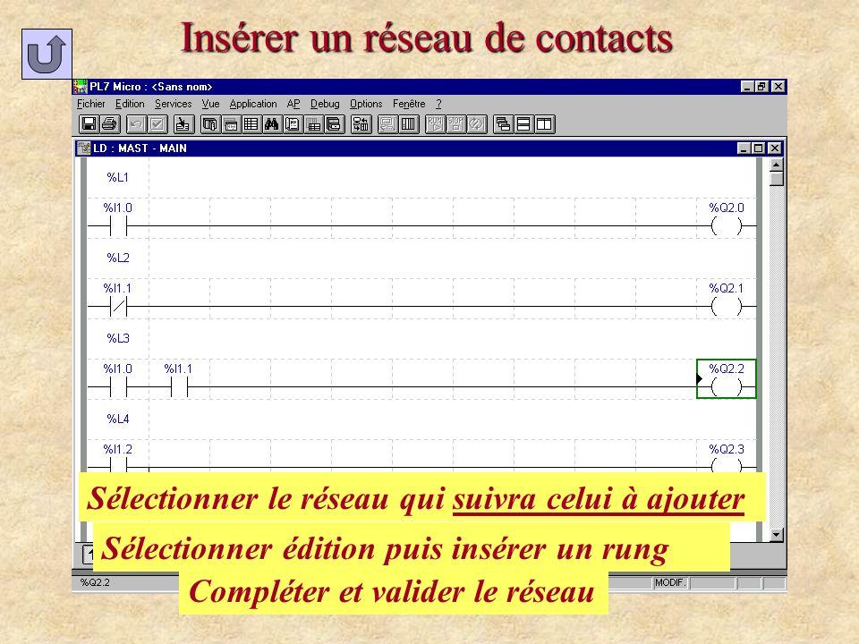 Insérer un réseau de contacts