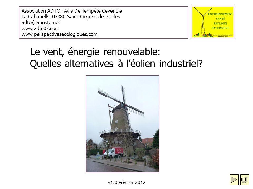 Le vent, énergie renouvelable: