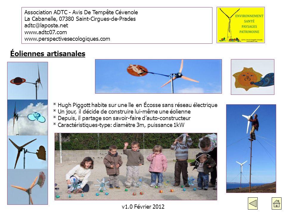 Éoliennes artisanales