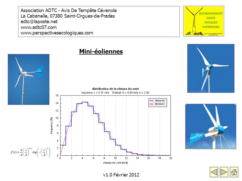 Mini-éoliennes v1.0 Février 2012