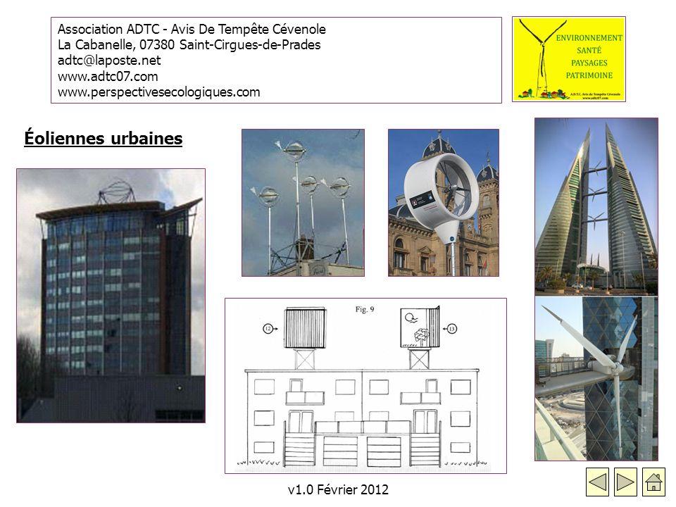 Éoliennes urbaines v1.0 Février 2012