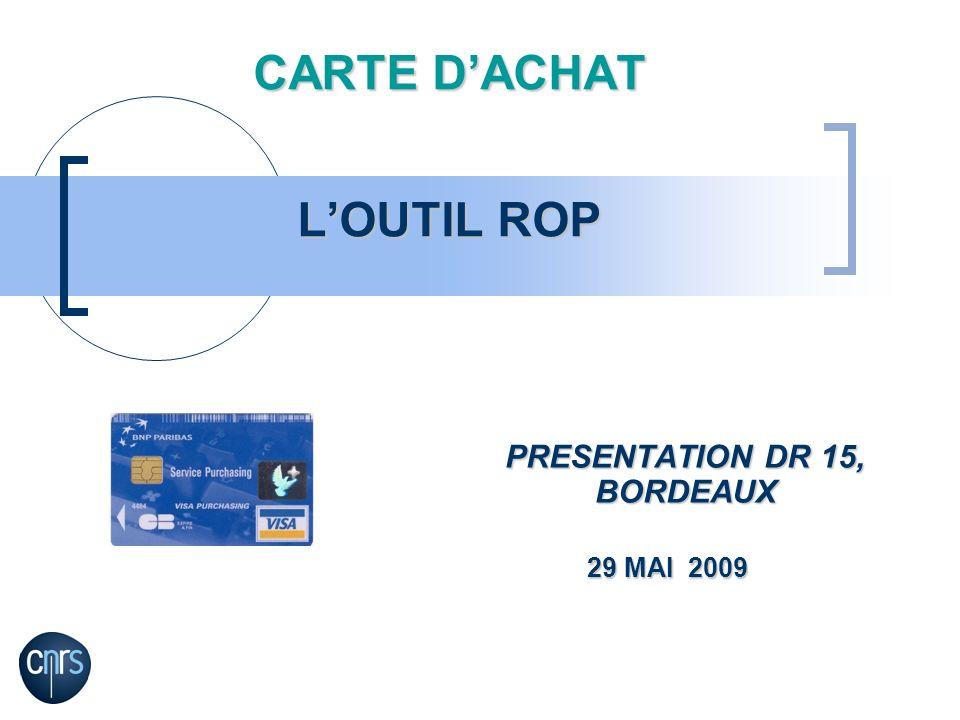 CARTE D'ACHAT L'OUTIL ROP