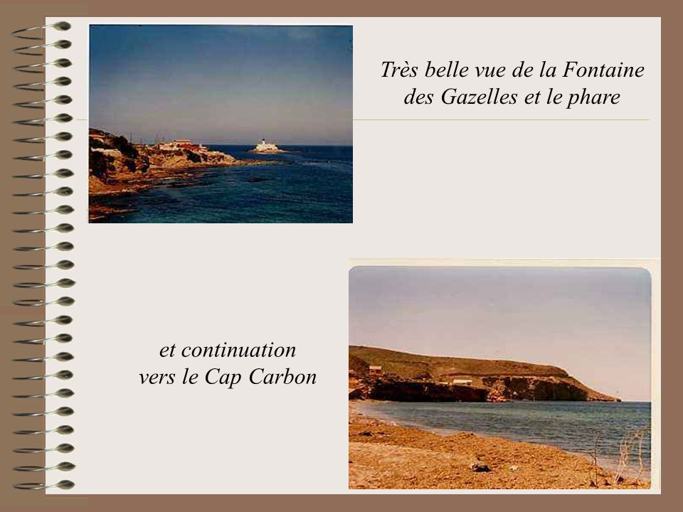 Très belle vue de la Fontaine des Gazelles et le phare