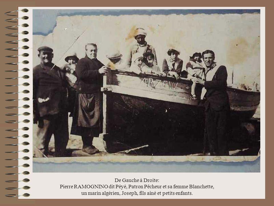Pierre RAMOGNINO dit Péyé, Patron Pêcheur et sa femme Blanchette,