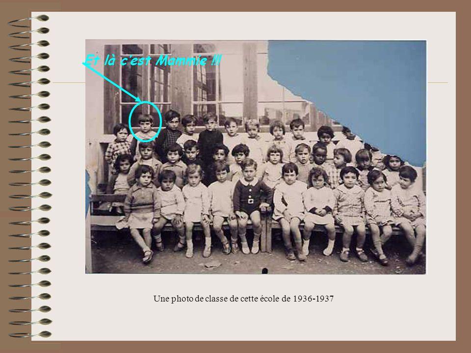 Une photo de classe de cette école de 1936-1937