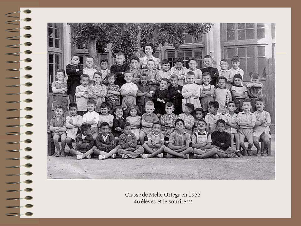 Classe de Melle Ortéga en 1955