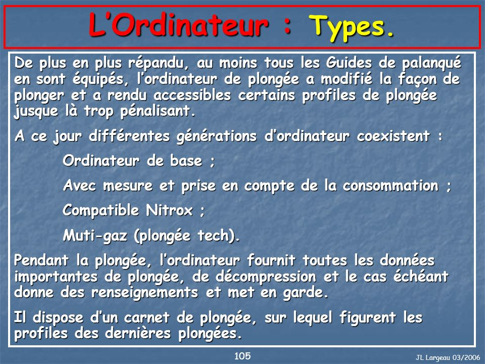 L'Ordinateur : Types.
