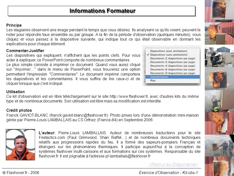 Informations Formateur