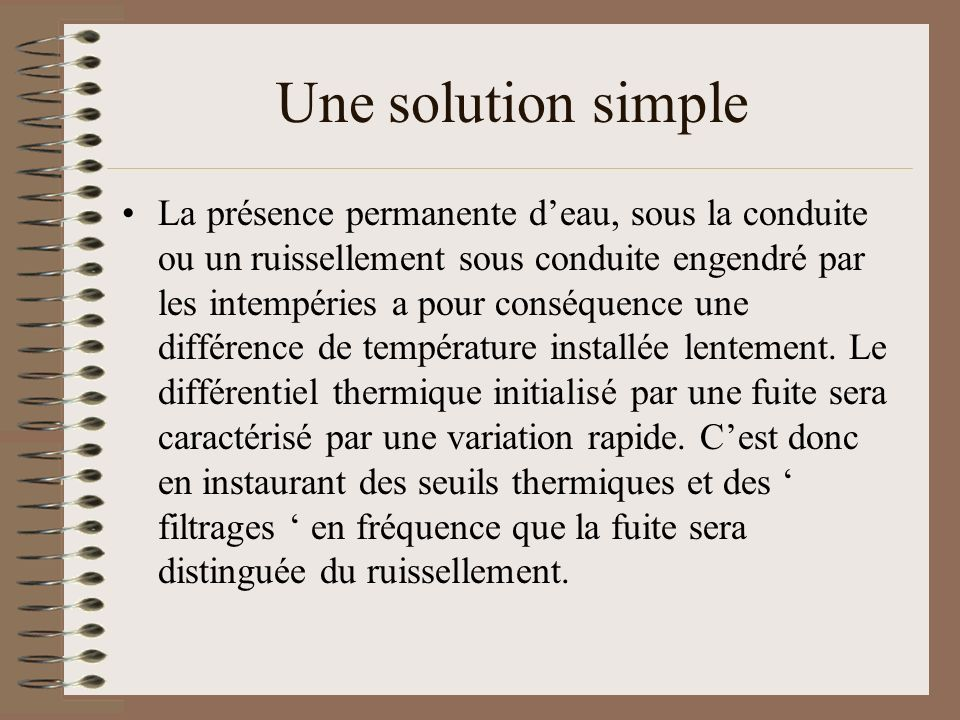 Une solution simple