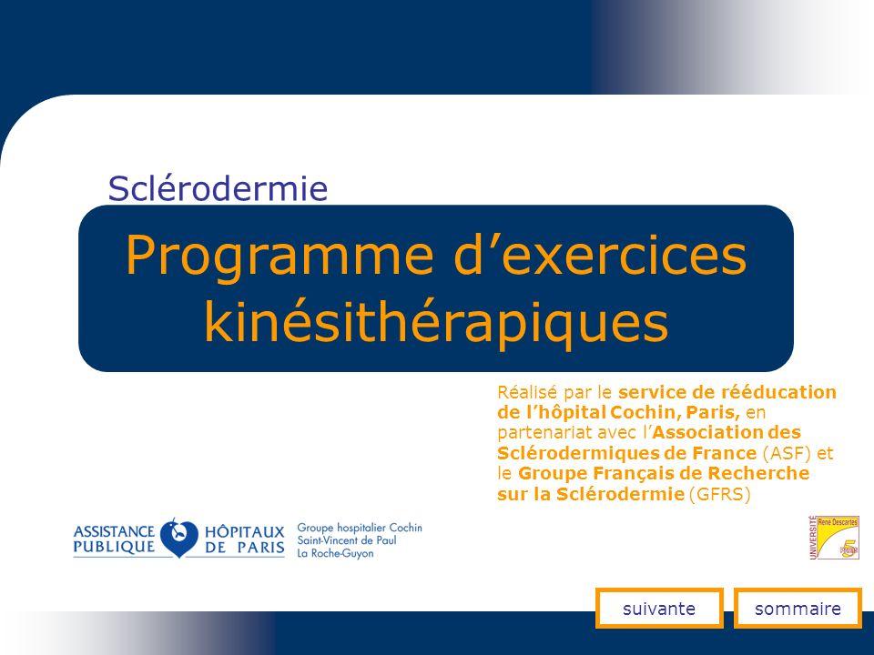 Programme d'exercices kinésithérapiques
