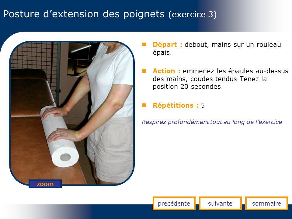 Posture d'extension des poignets (exercice 3)