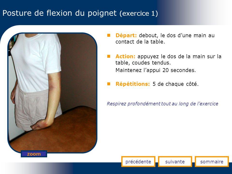 Posture de flexion du poignet (exercice 1)