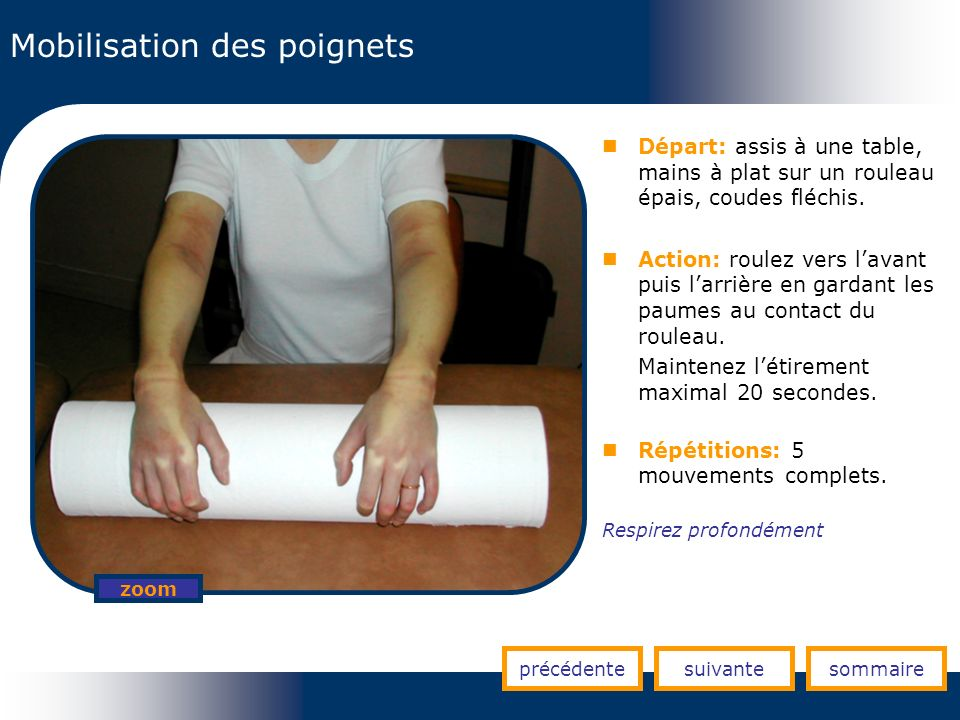 Mobilisation des poignets