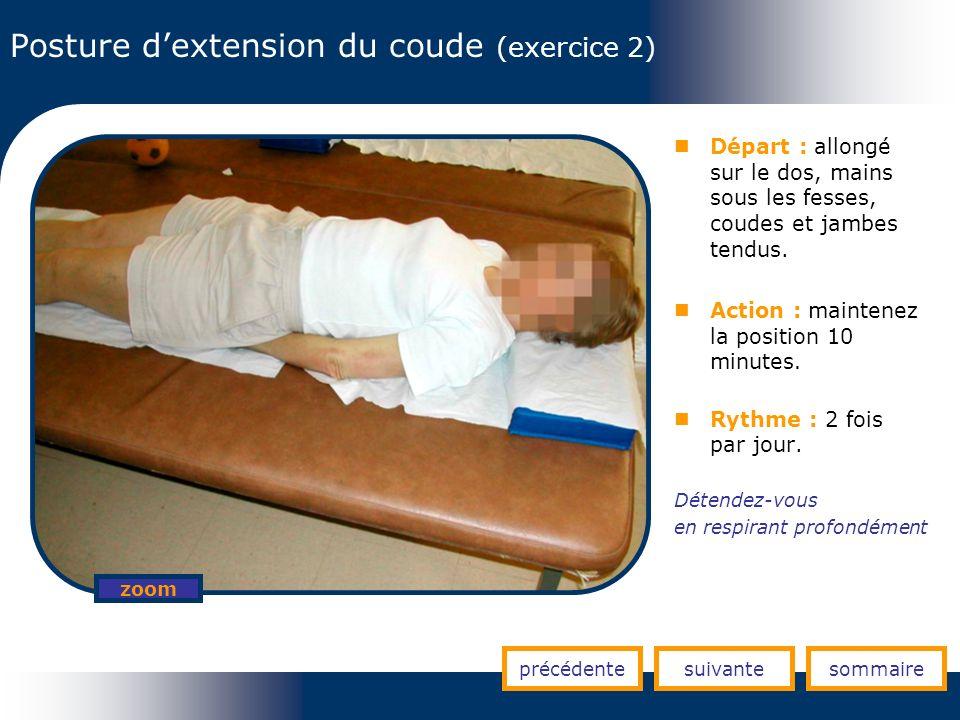 Posture d'extension du coude (exercice 2)