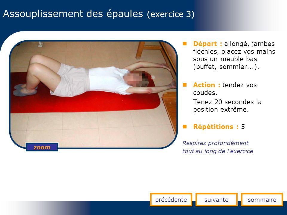 Assouplissement des épaules (exercice 3)