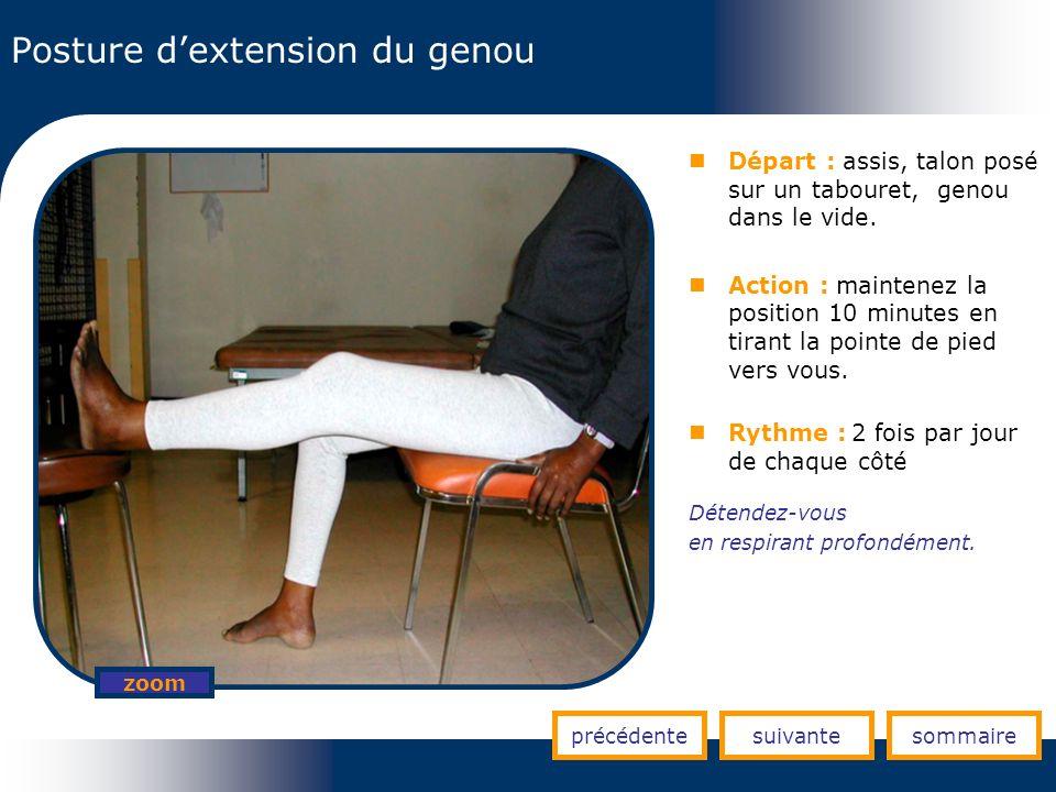 Posture d'extension du genou