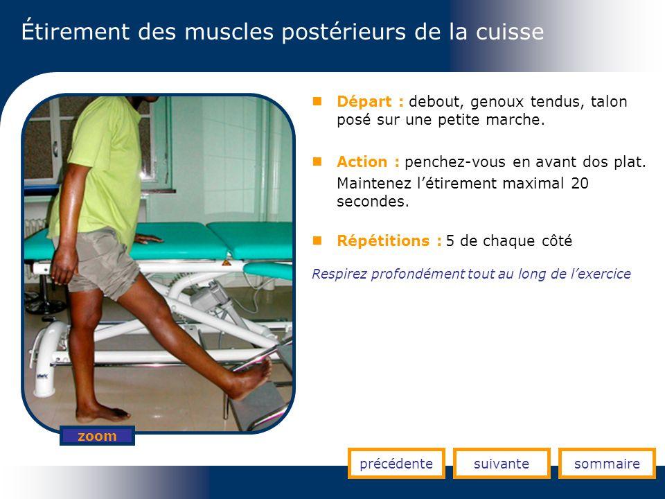 Étirement des muscles postérieurs de la cuisse
