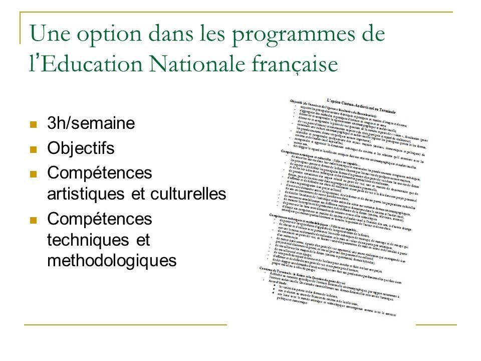 Une option dans les programmes de l'Education Nationale française
