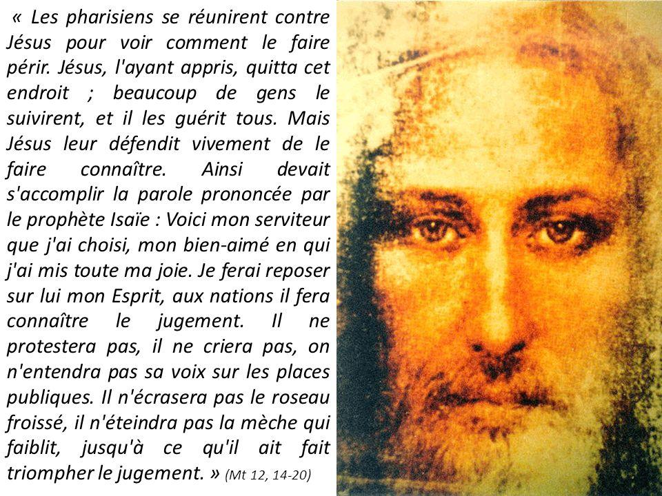 « Les pharisiens se réunirent contre Jésus pour voir comment le faire périr.