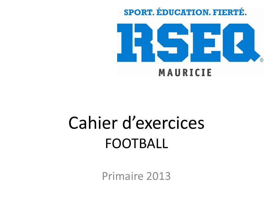 Cahier d'exercices FOOTBALL