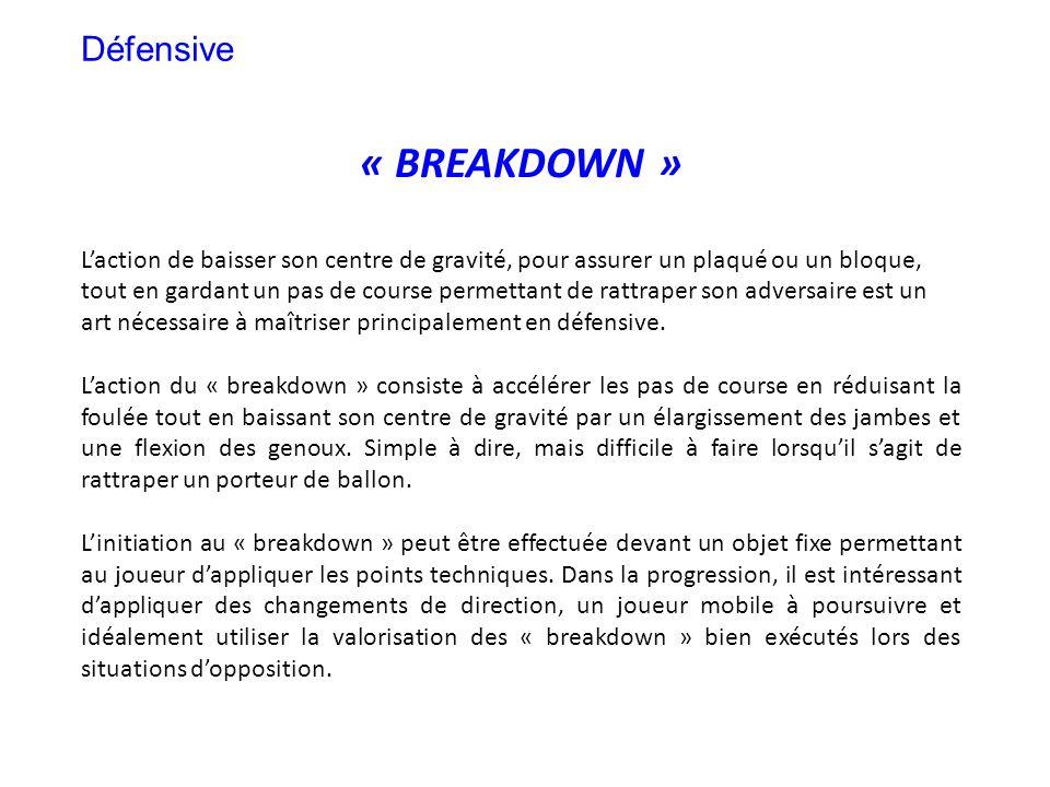 « BREAKDOWN » Défensive