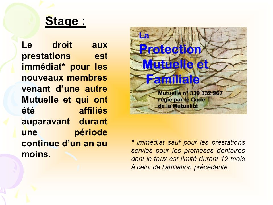 Stage :