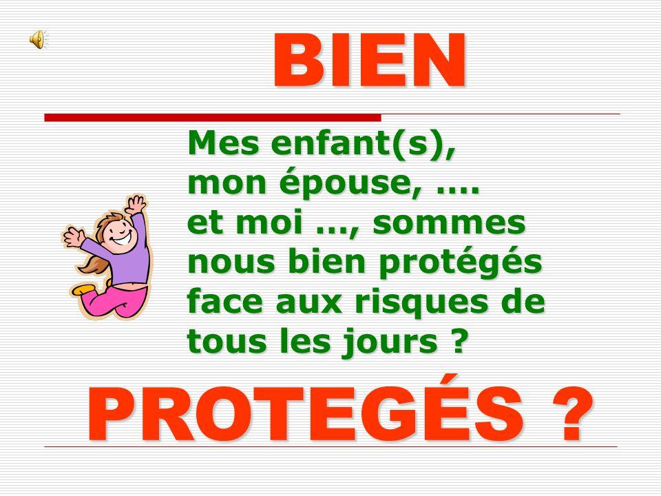 BIEN PROTEGÉS Mes enfant(s), mon épouse, ….