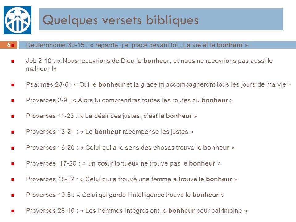 Quelques versets bibliques