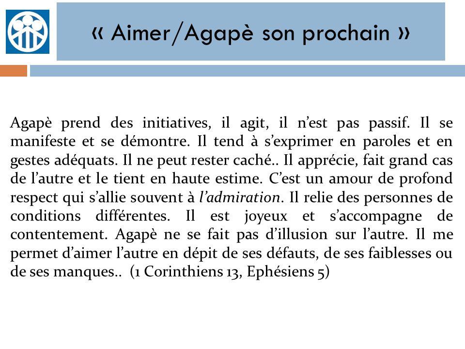 « Aimer/Agapè son prochain »