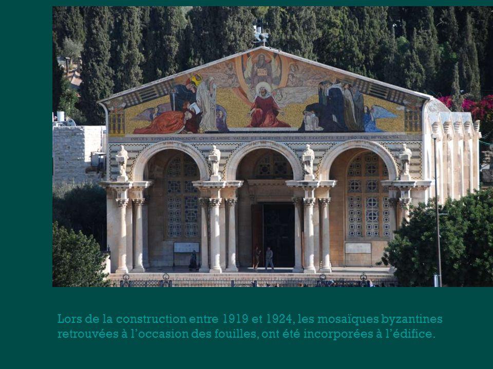 Lors de la construction entre 1919 et 1924, les mosaïques byzantines
