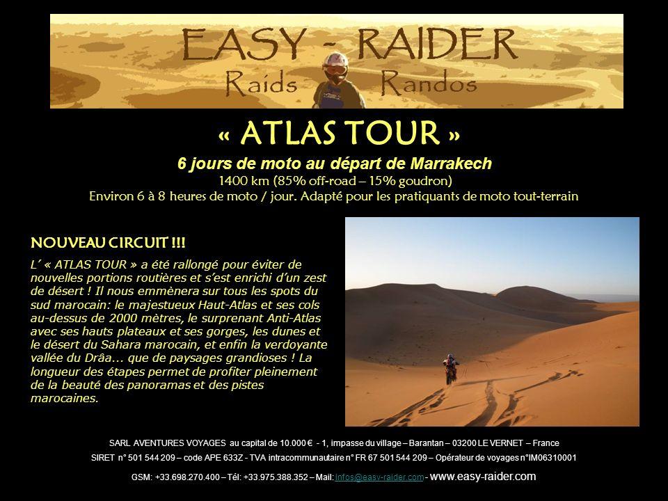 6 jours de moto au départ de Marrakech