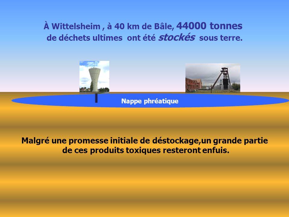À Wittelsheim , à 40 km de Bâle, 44000 tonnes