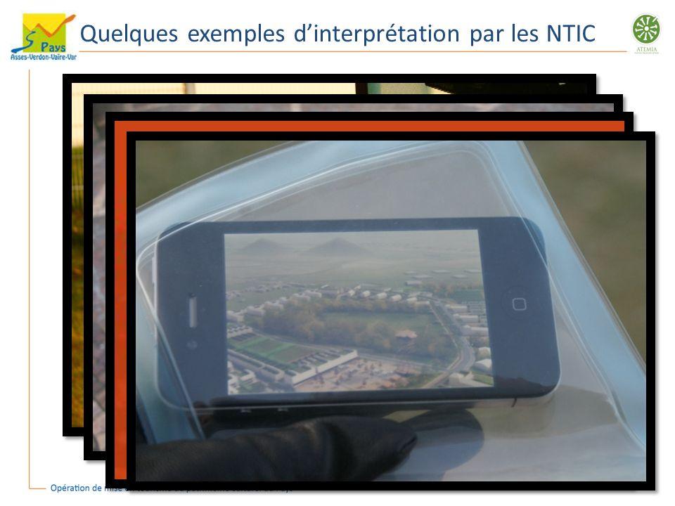 Quelques exemples d'interprétation par les NTIC