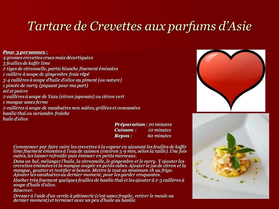 Tartare de Crevettes aux parfums d'Asie